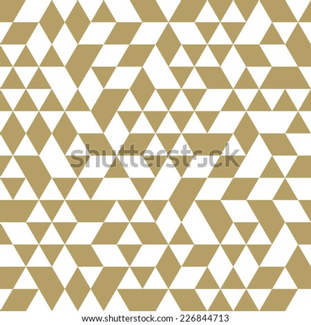 Geometric vector pattern with triangular elements. Seamless abstract ornament for wallpapers and background - stock vector