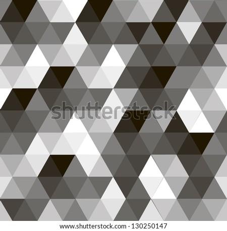 geometric vector seamless pattern - stock vector