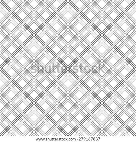 Geometric vector texture with grey diagonal oriental elements. Seamless grill for wallpapers and background - stock vector