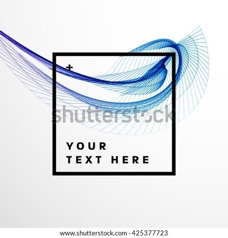 Geometric Vector Wave. Abstract Perspective Curve Lines Background - stock vector