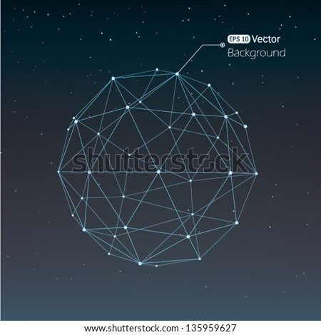 Geometrical background with lines - stock vector