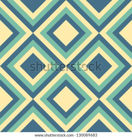 Geometrical pattern in emerald green&golden colors, seamless vector background. For fashion textile, cloth, backgrounds. - stock vector