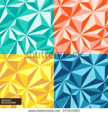 Geometrical patterns - stock vector