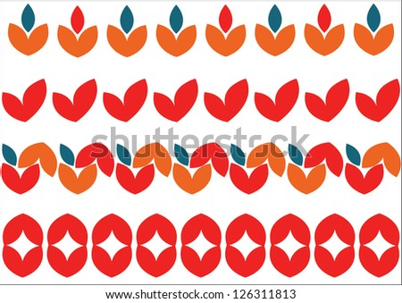 geometrical patterns for ornaments and cloths/2 - stock vector