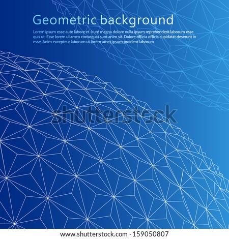 Geometrical sphere. Vector illustration - stock vector