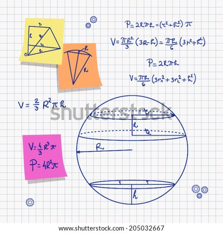 geometry and math eps10 - stock vector