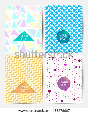 geometry backgrounds set, flyers and banner designs - stock vector