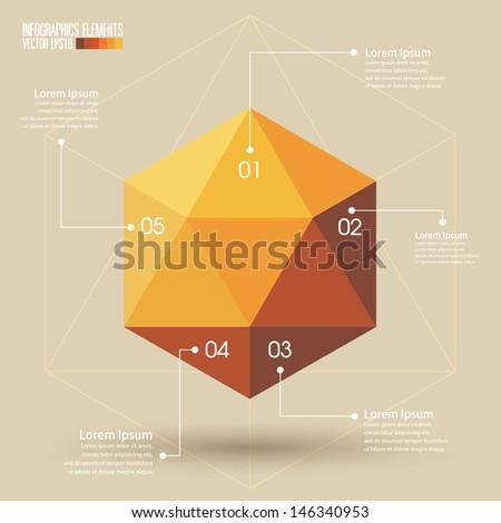 Geometry Infographics Template vector - stock vector