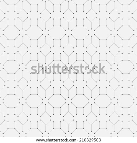 Geometry repeatable pattern, seamless vector background - stock vector