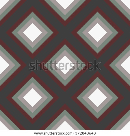 geometry rhombus vector seamless pattern with lines   - stock vector