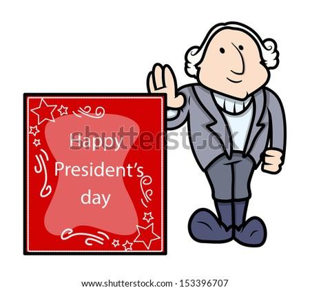 George Washington - Presidents Day Vector Illustration - stock vector