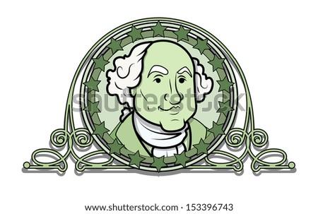 George Washington Vector Illustration Clip-art - stock vector