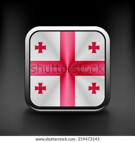 Georgia icon flag national travel icon country symbol button. - stock vector