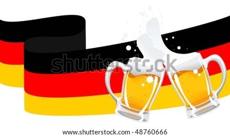german beer - stock vector