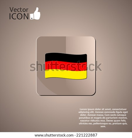 German flag in a button. Made in vector - stock vector