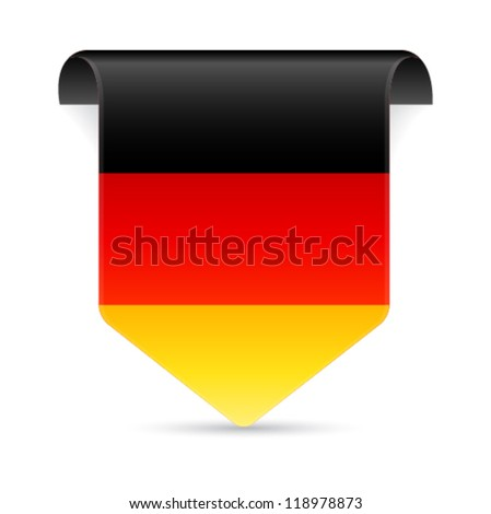 German flag tag vector illustration - stock vector