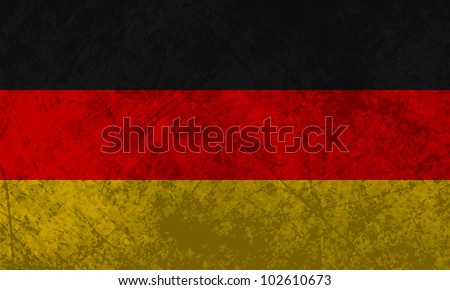 German flag with a grunge texture effect. - stock vector