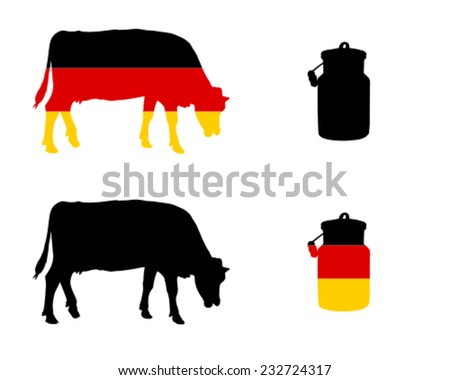 German milk cow - stock vector