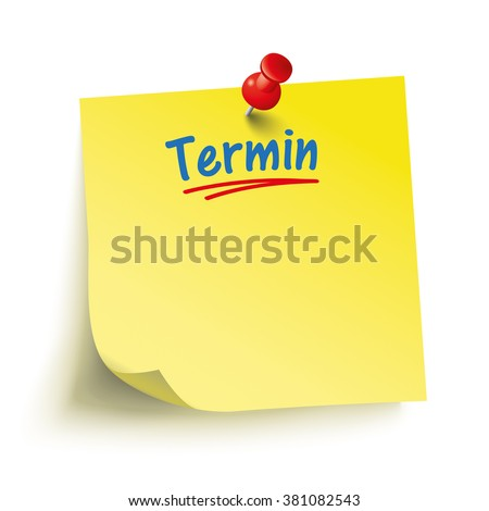 German text Termin, translate Appointment. Eps 10 vector file. - stock vector