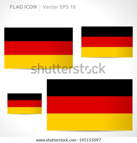 Germany flag template | vector symbol design | color black red and yellow | icon set - stock vector