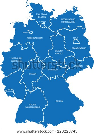 germany map - stock vector