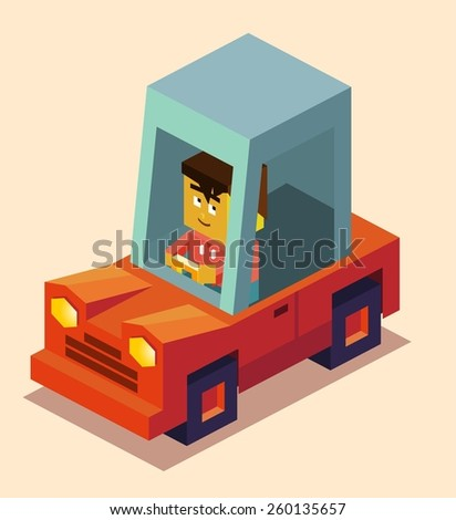 Get car driving licence. vector illustration - stock vector