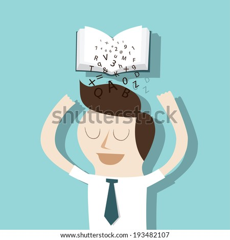 Get the knowledge Learning concept - stock vector