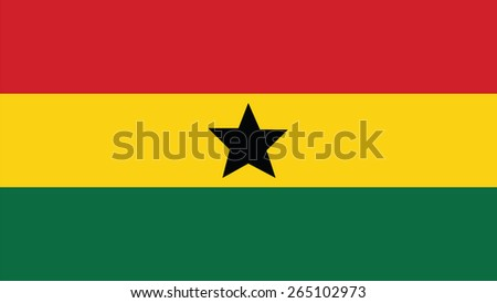 ghana Flag for Independence Day and infographic Vector illustration. - stock vector