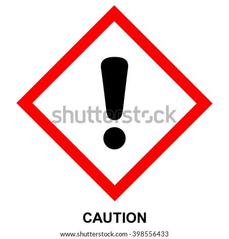 GHS hazard pictogram - CAUTION , health hazard warning sign , isolated vector illustration - stock vector