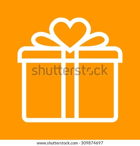 Gift, birthday, present icon vector image.Can also be used for valentine, love, observances and holidays. Suitable for mobile apps, web apps and print media.  - stock vector