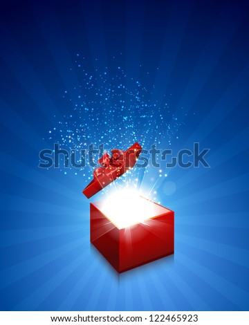 gift box background eps10, easy editable - stock vector
