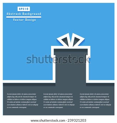 Gift box Concept. Vector design for web, mobile applications, seo optimizations, business, social networks, e-commerce, planning and teamwork. - stock vector