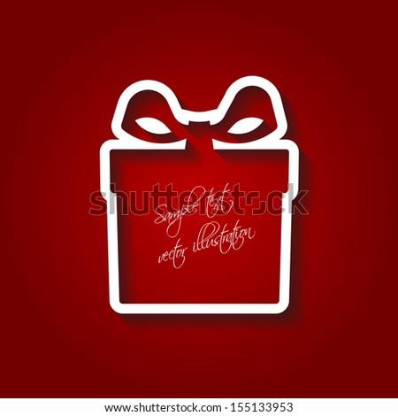 Gift box frame for Christmas season, Valentines day, Birthday and Weddings, vector illustration. - stock vector