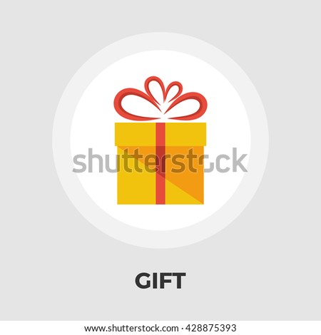 Gift box icon vector. Flat icon isolated on the white background. Editable EPS file. Vector illustration. - stock vector