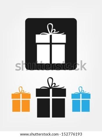 Gift Box Icon. Vector Illustration - stock vector