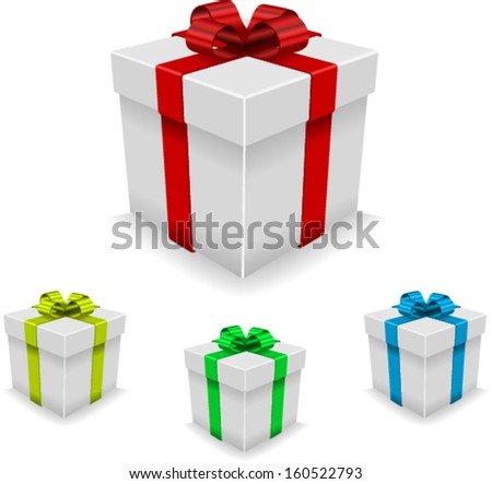 Gift box set. Vector - stock vector