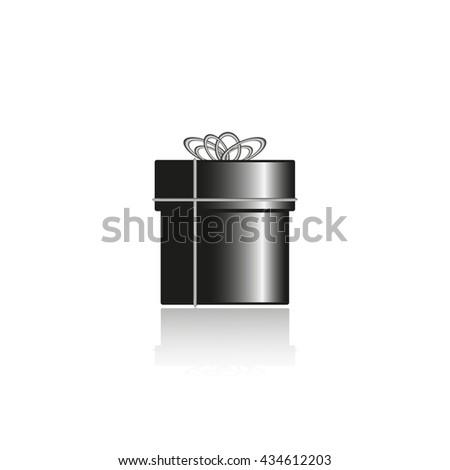 Gift box. Vector illustration. - stock vector