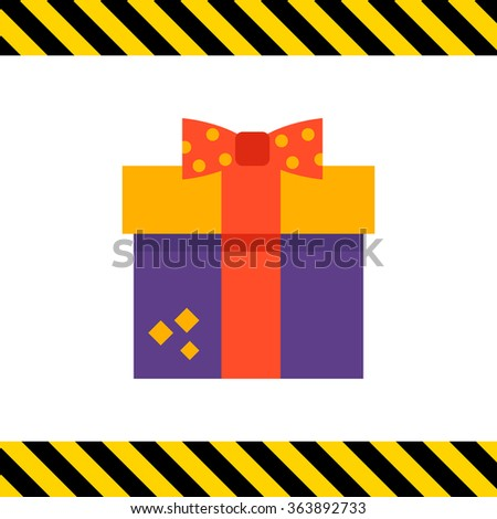 Gift box with ribbon and bow - stock vector