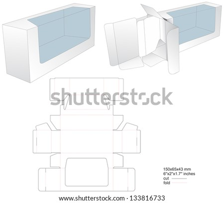 Gift box with separator - stock vector