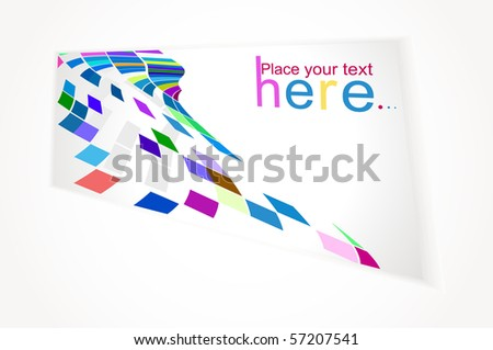 Gift card isolated on a white background - stock vector