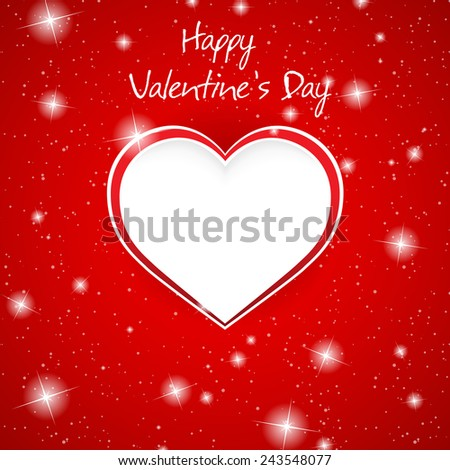 Gift card. Valentine's Day. Love. Clip-art - stock vector