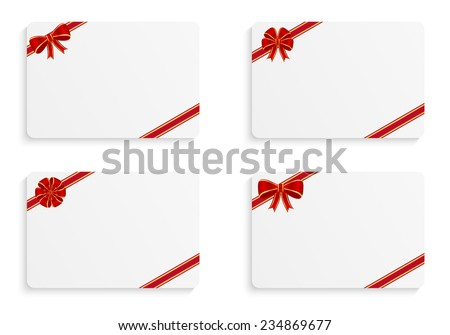 Gift cards - stock vector