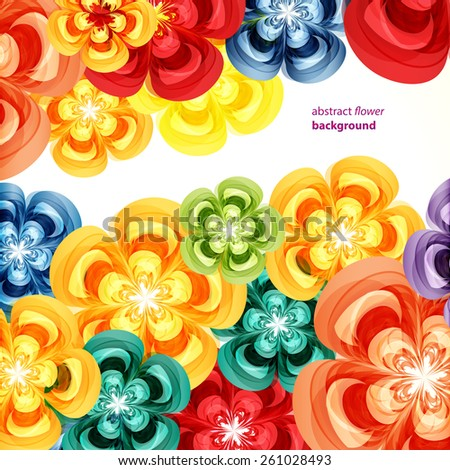Gift cards. Floral design backgrounds. - stock vector