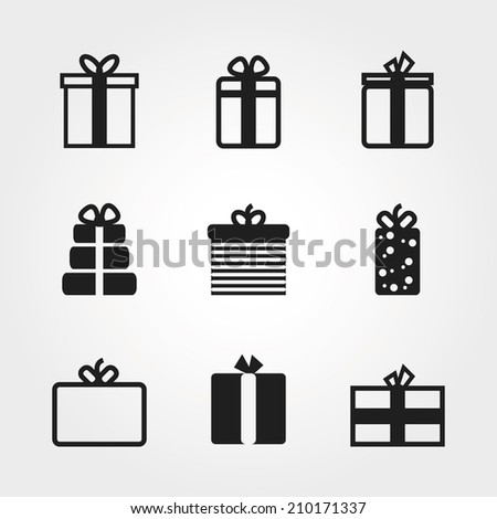 gift icon - stock vector