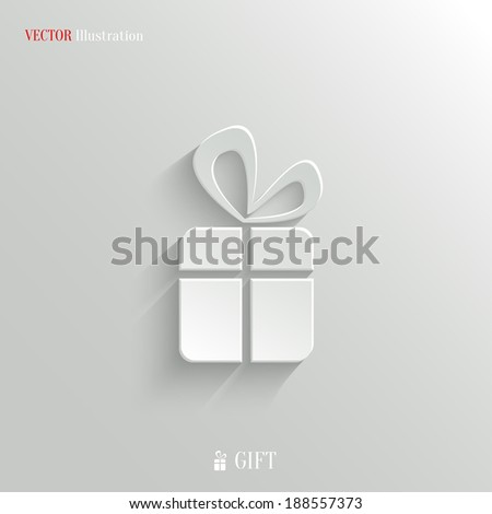 Gift icon - vector web illustration, easy paste to any background - stock vector