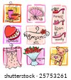 Gift Ideas for girl. Vector illustration - stock vector