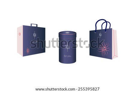 Gift product pack - stock vector