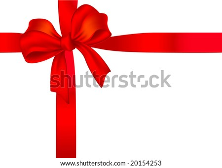 Gift ribbon. Vector. - stock vector