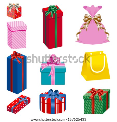 Gift set separately - stock vector