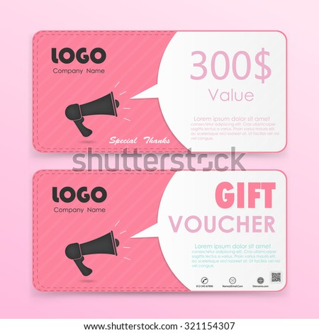 Gift voucher background or certificate coupon template with clean premium modern pattern design.Vector illustration - stock vector